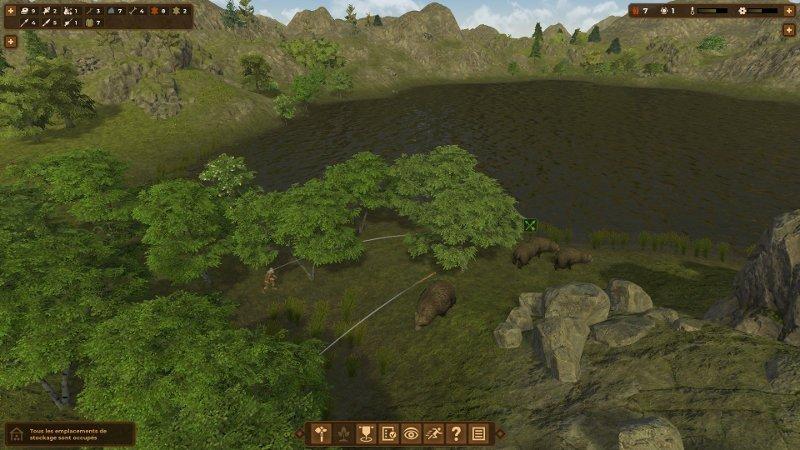 Hunting animals in Dawn of Man