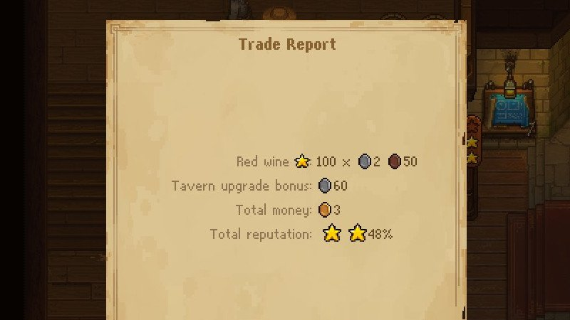 Trade report red wine