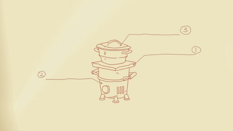 My time at portia cooking set