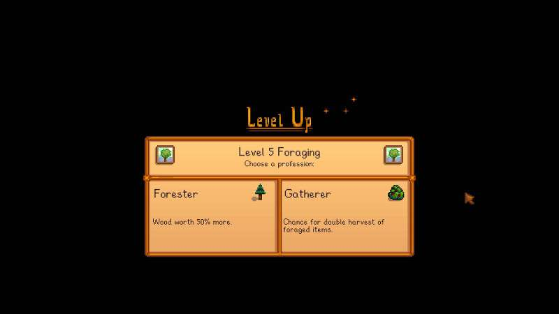 Forester or gatherer - Stardew Valley