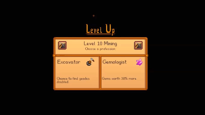 Excavator or gemologist in Stardew Valley