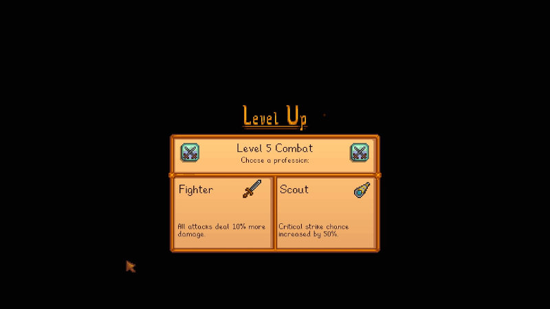 Fighter or scout - Stardew Valley