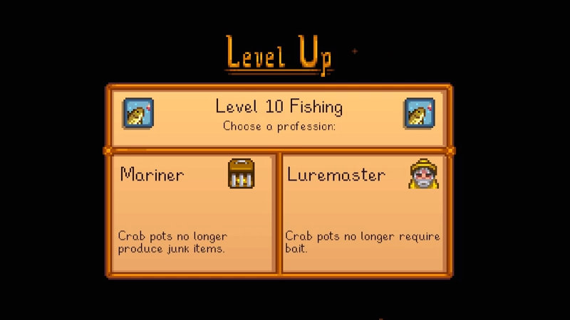 Mariner or luremaster in Stardew Valley